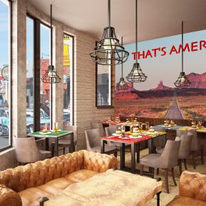 arizona-66-garage-progettazione-american-bar-carta-da-parati-deserto-strada-that-s-america-divani-chester