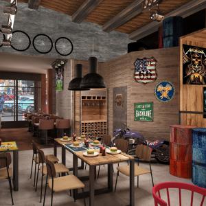 arizona-66-garage-progettazione-american-bar-sedie-usa-legno-hamburger-coca-cola