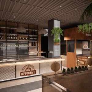 cento-nove-officine-lamezia-terme-progettazione-locali-render-ristorazione-interior-design-industrial-banco-show-cooking