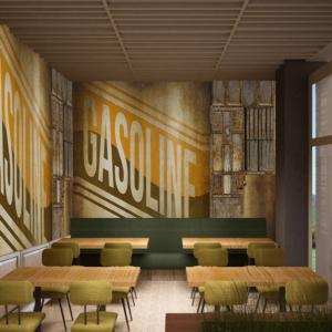 cento-nove-officine-lamezia-terme-progettazione-locali-render-ristorazione-interior-design-industrial-carta-da-parati-gasoline