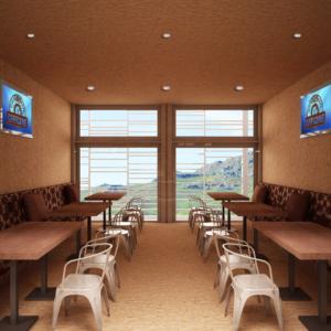 cento-nove-officine-lamezia-terme-progettazione-locali-render-ristorazione-interior-design-industrial-saletta-legno-divani