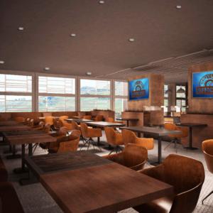 cento-nove-officine-lamezia-terme-progettazione-locali-render-ristorazione-interior-design-industrial-saletta-schermi-tv