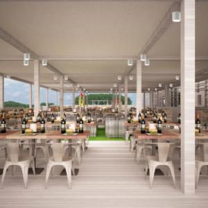 cento-nove-officine-lamezia-terme-progettazione-locali-render-ristorazione-outdoor-design-industrial-pergolato-giorno-colonne