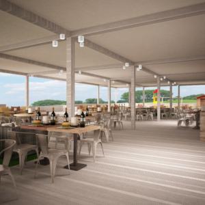 cento-nove-officine-lamezia-terme-progettazione-locali-render-ristorazione-outdoor-design-industrial-pergolato-giorno-sedie-tavoli