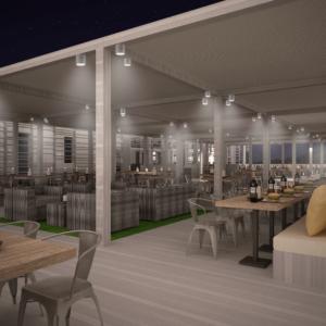 cento-nove-officine-lamezia-terme-progettazione-locali-render-ristorazione-outdoor-design-industrial-pergolato-notte