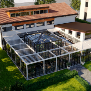 eupili-cafe-progettazione-locali-render-giorno-esterno-cupola-vetro