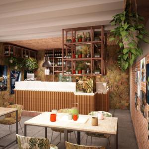 saba-modena-progettazione-locali-render-ristorazione-interior-design-banco-bar-wallpaper-corten