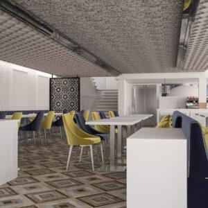 vivo-el-jadida-progettazione-locali-render-3d-decorazione-ristorazione-interior-design-oro-blu-giallo-marocco-italian-food