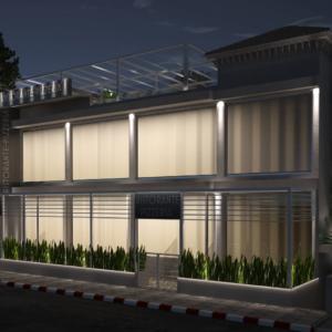 vivo-el-jadida-progettazione-locali-render-3d-notte-ristorazione-outdoor-design-italian-food-lights