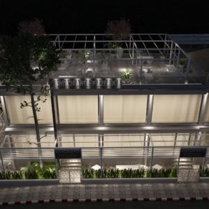 vivo-el-jadida-progettazione-locali-render-3d-notte-ristorazione-outdoor-design-italian-food-lights-building