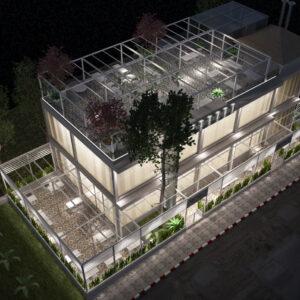 vivo-el-jadida-progettazione-locali-render-3d-notte-ristorazione-outdoor-design-italian-food-rooftop