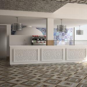 vivo-el-jadida-progettazione-locali-render-3d-ristorazione-interior-design-bianco-banco-bar-marocco-italian-food