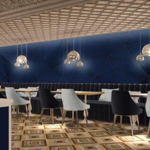 vivo-el-jadida-progettazione-locali-render-3d-ristorazione-interior-design-blu-oro-italian-food
