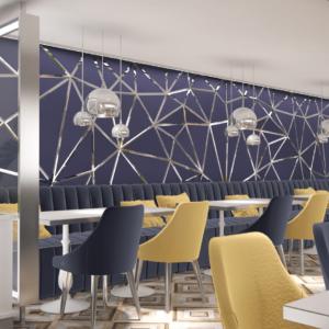 vivo-el-jadida-progettazione-locali-render-3d-ristorazione-interior-design-oro-blu-giallo-marocco-italian-food