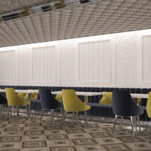 vivo-el-jadida-progettazione-locali-render-3d-ristorazione-interior-design-oro-blu-giallo-wall-decor-marocco-italian-food