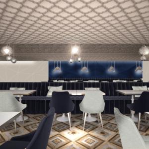 vivo-el-jadida-progettazione-locali-render-3d-ristorazione-interior-design-oro-blu-marocco-italian-food