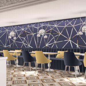 vivo-el-jadida-progettazione-locali-render-3d-ristorazione-interior-design-oro-blu-marocco-italian-food-carta-da-parati